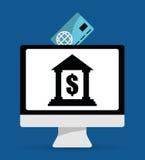 Онлайн значки оплат Стоковая Фотография