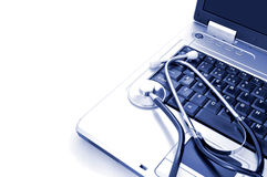 Онлайн здоровье Стоковые Изображения