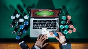 Онлайн игрок в покер Стоковые Фотографии RF