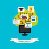 Онлайн иллюстрация концепции образования Стоковые Фото
