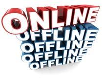 Он-лайн и offline Стоковая Фотография RF
