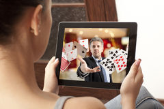 Онлайн казино Стоковое Изображение
