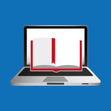 Онлайн книжное обучение концепции образования иллюстрация вектора