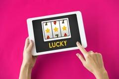 Онлайн концепция везения казино стоковое изображение rf
