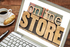Онлайн концепция магазина Стоковые Изображения RF