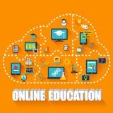 Онлайн концепция образования Стоковая Фотография RF