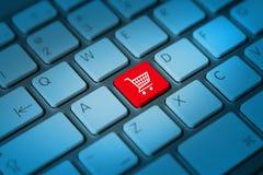 Онлайн концепция покупок Стоковое Изображение