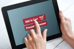 Онлайн концепция покупок стоковые фото