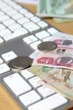 Онлайн концепция сделки стоковые фотографии rf