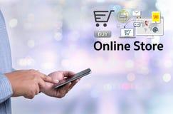 Онлайн магазин добавляет к магазина покупки магазина заказа тележки PA онлайн онлайн Стоковое Фото