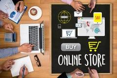 Онлайн магазин добавляет к магазина покупки магазина заказа тележки PA онлайн онлайн Стоковые Изображения