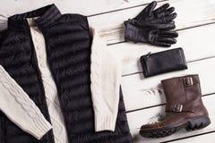 Онлайн магазин одежды людей Стоковые Изображения RF