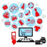 Онлайн магазин Стоковая Фотография