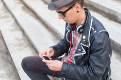 Онлайн музыка Стоковая Фотография RF