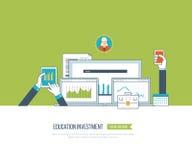 Онлайн образование и курсы Стоковое Изображение