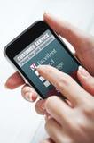 Онлайн обслуживание клиента Стоковые Изображения