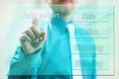 Онлайн покупки Стоковые Изображения RF