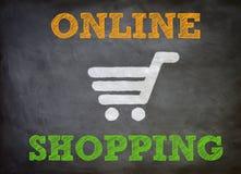 Онлайн покупки иллюстрация вектора
