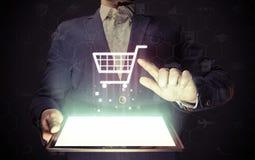 Он-лайн принципиальная схема магазина Стоковые Изображения
