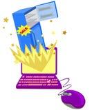 Он-лайн принципиальная схема покупкы Стоковое Изображение RF