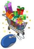 Он-лайн принципиальная схема покупкы Стоковые Изображения RF