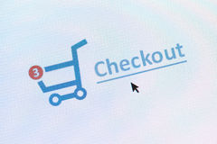 Онлайн принципиальная схема покупок Стоковая Фотография RF