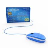 Онлайн приобретение, банк бесплатная иллюстрация