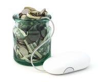 Онлайн сбережения стоковое фото