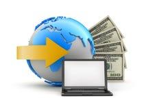 Онлайн сделки - иллюстрация принципиальной схемы стоковые фотографии rf