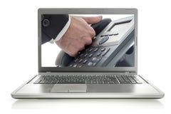 Онлайн телефон поддержки Стоковые Изображения