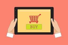 Онлайн ходя по магазинам концепция Infographic Стоковые Фото