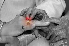 он венчание кольца Стоковые Фото