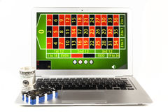 Он-лайн азартная игра Стоковое Изображение RF