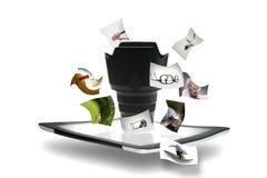 Он-лайн делить и дело съемки Стоковое Изображение