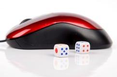 Он-лайн играть в азартные игры Стоковые Изображения