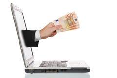 он-лайн компенсация стоковые изображения rf