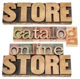 Он-лайн магазин стоковые фотографии rf