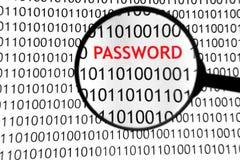 он-лайн пароль Стоковое Изображение RF
