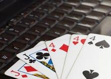 он-лайн покер Стоковые Изображения RF