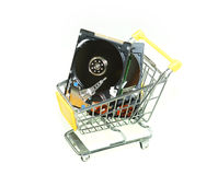Он-лайн покупка интернета Стоковая Фотография