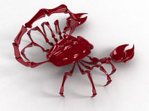 ОН назад скорпион 3d Стоковая Фотография RF