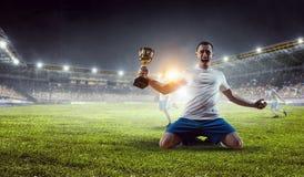 Он чемпион Мультимедиа Стоковая Фотография RF