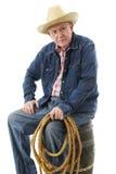 Он ` s старый Cowhand стоковые изображения rf