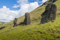 ООН 3 moais холм стоковое фото rf