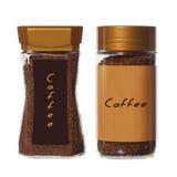 2 опарника растворимого кофе Стоковое Изображение