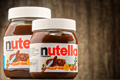 Опарникы распространения Nutella стоковое изображение