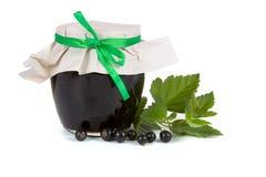 опарник варенья черной смородины Стоковое Фото