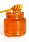 опарник изолированный медом Стоковое Изображение