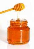 опарник изолированный медом Стоковые Изображения RF