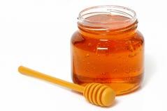опарник изолированный медом Стоковое фото RF